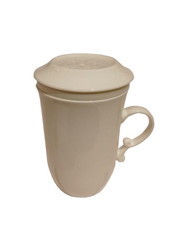 Tisanière Porcelaine Blanche