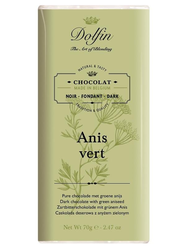 Tablette de chocolat Anis Vert